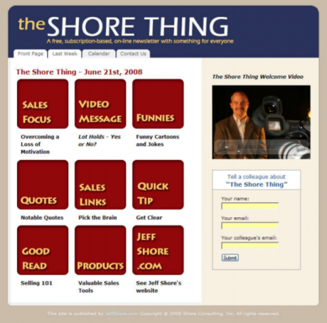 Jeff Shore's The Shore Thing newsletter.