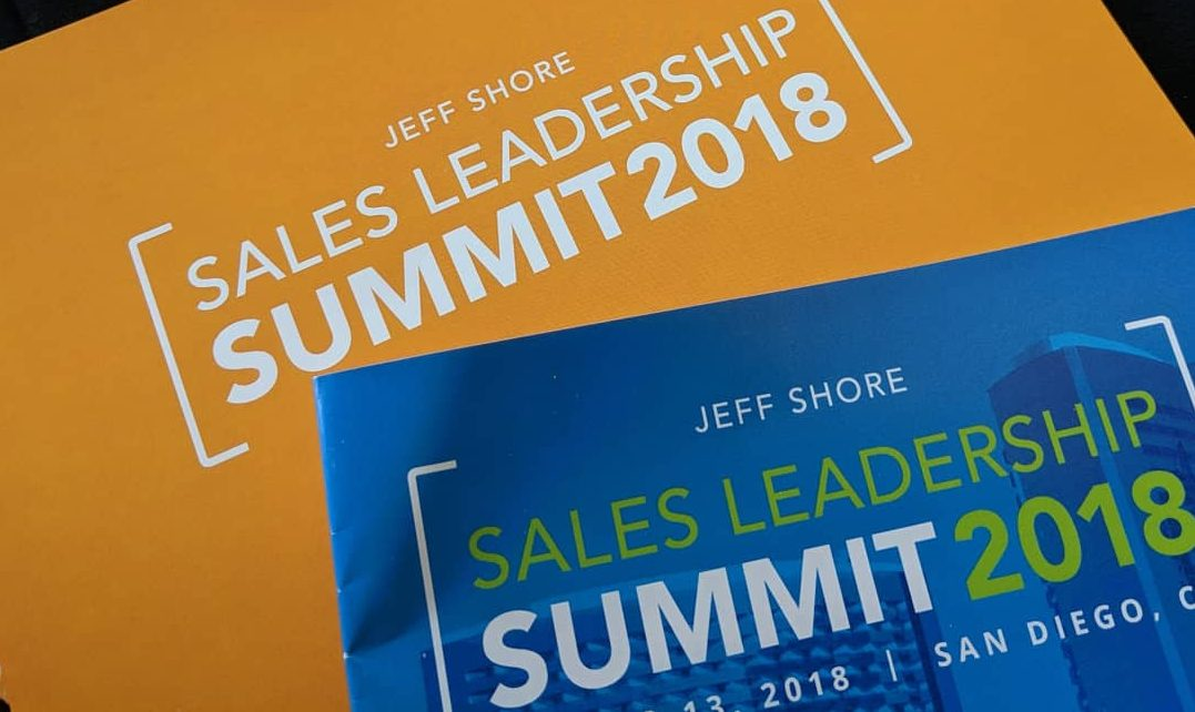 Jeff Shore Sales Leadership Summit