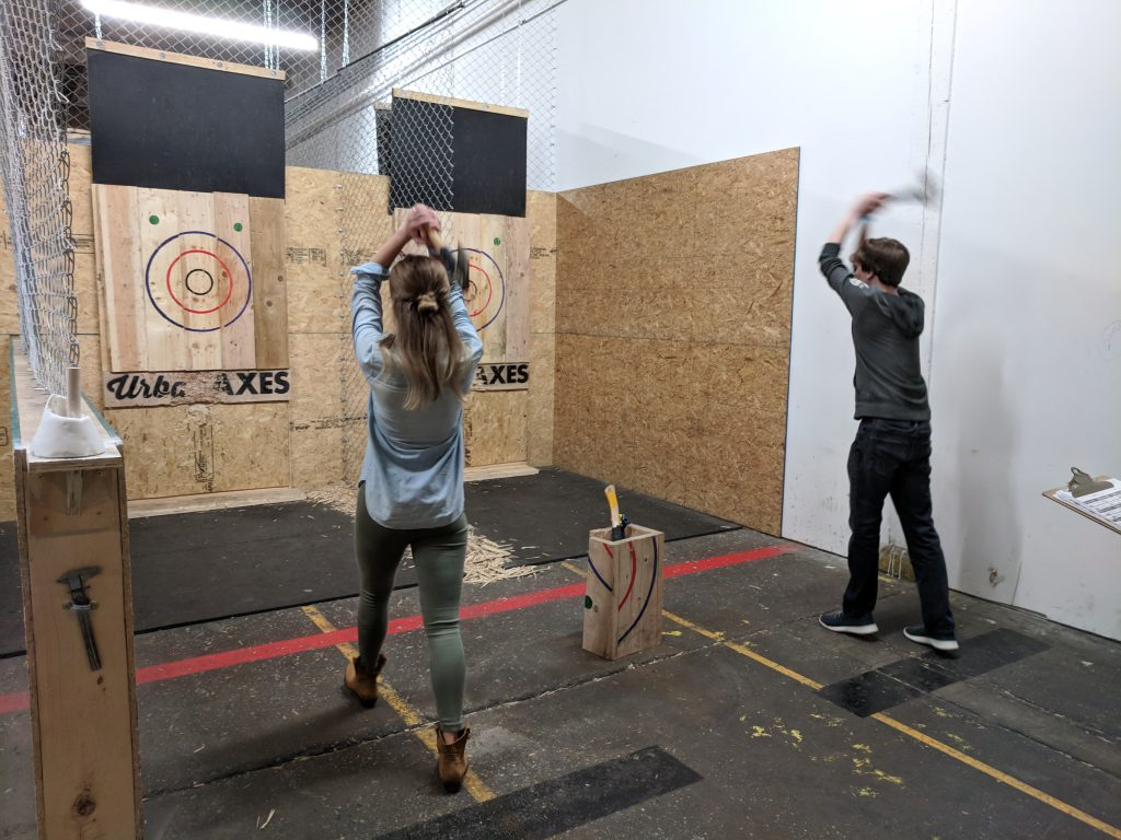 Digital Professionals throwing Axes