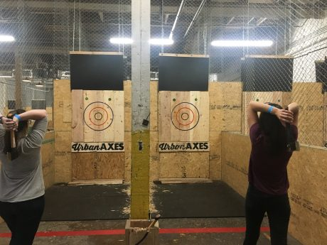 ONeil Interactive Competitive Axe Throwing