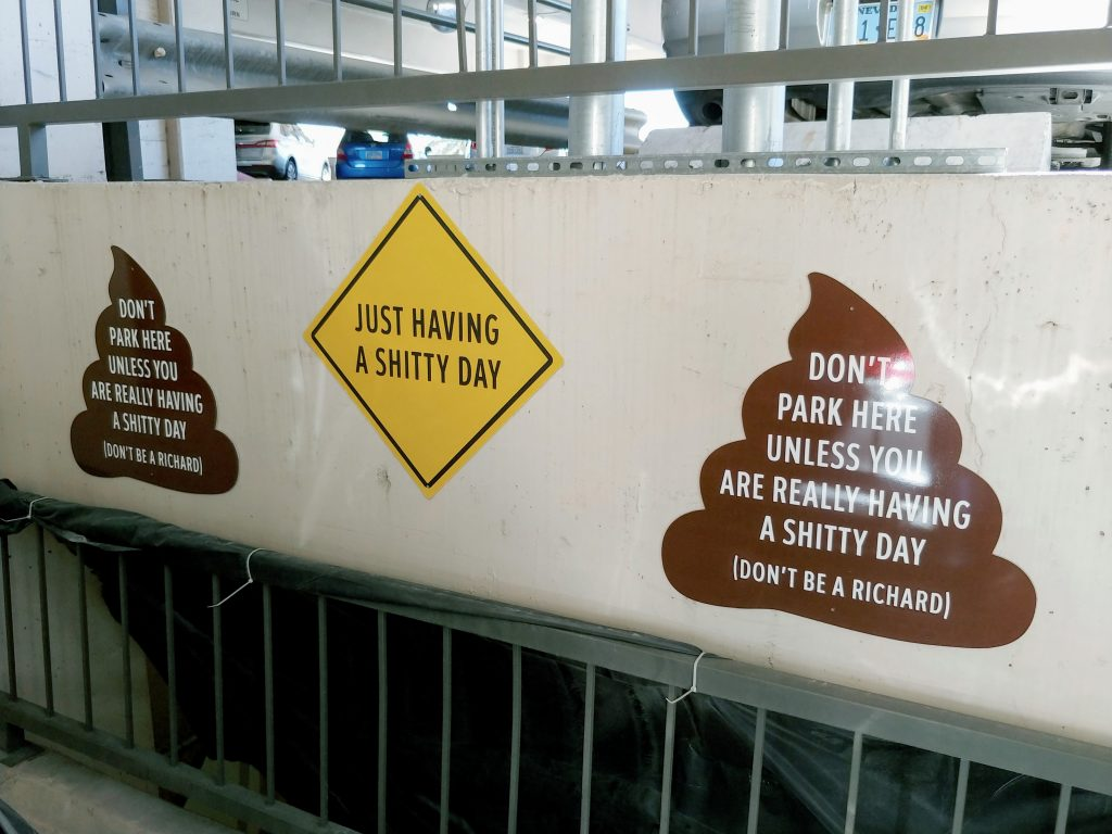 Zappos Shitty Day Parking Spot