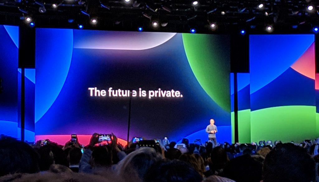 Mark Zuckerberg at F8 2019