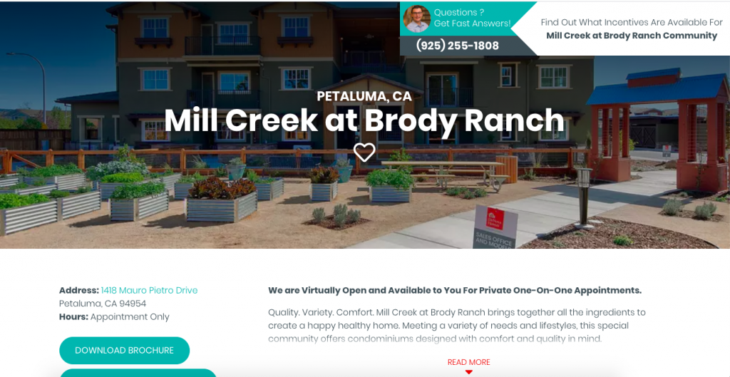 Good Landing Page for Home Builder