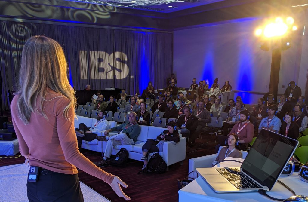 Megan speaking at the 2020 International Builders Show